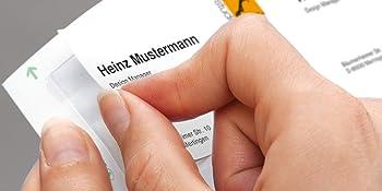 Visitenkarten, Faltkarten, Businesskarten, gestaltbare Visitenkarten, Zweckform, Avery, Leitz