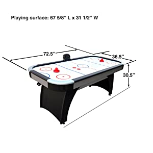 Air Hockey Game Table Kids Adults Family Game Room 6 Foot