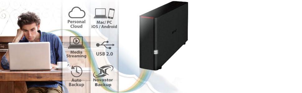LS210D0201 Buffalo LinkStation 210 2TB NAS Personal Cloud Storage//Media Server