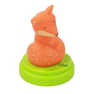 ANSMANN Nachtlicht Fuchs - Süße Einschlafhilfe mit Touch