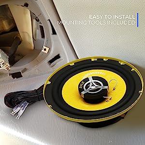 Car Two Way Speaker System - Pro 6.5 Inch 240 Watt 4 Ohm Mid Tweeter Component Audio Sound Speakers