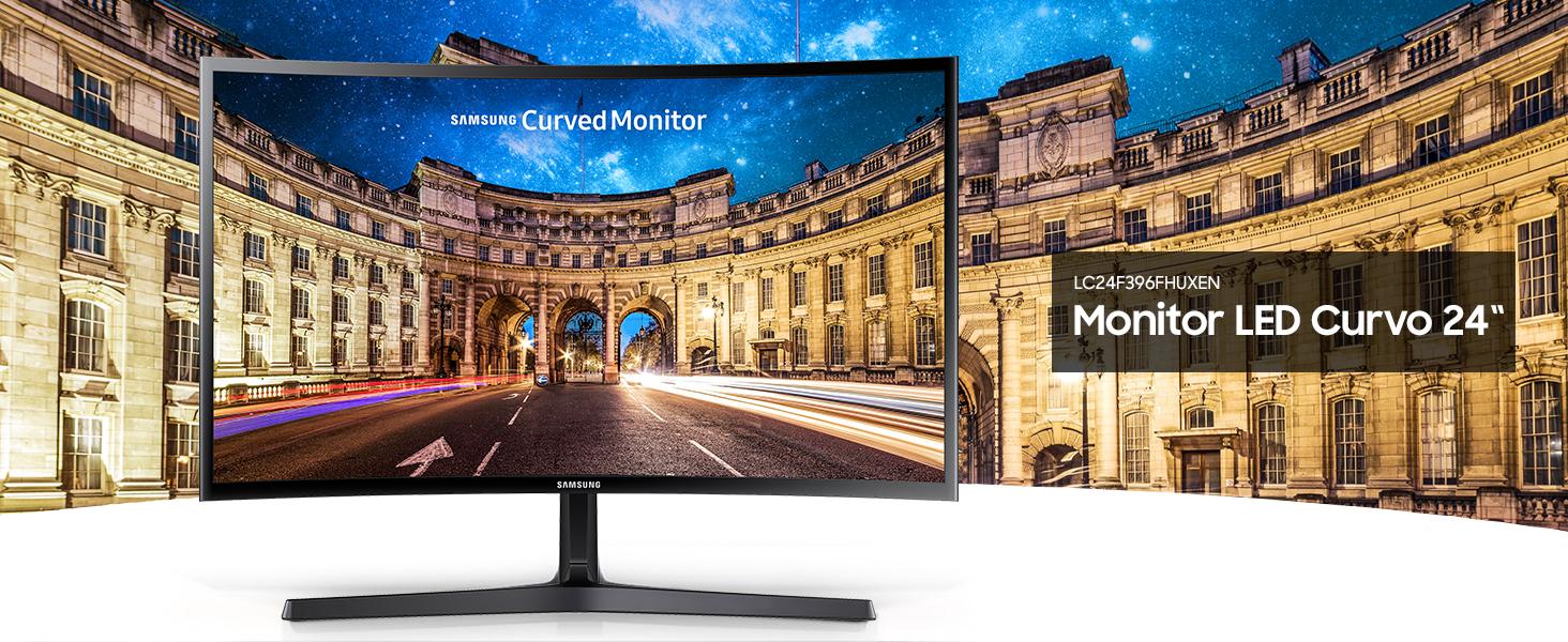 Samsung C24F396 - Monitor Curvo de 24 (Full HD, 4 ms, 60 Hz ...
