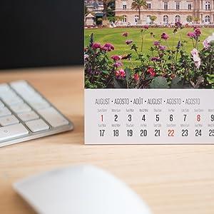 Calendario scrivania 2021; calendario da tavolo 2021; calendario parigi 2021; calendario erik 2021
