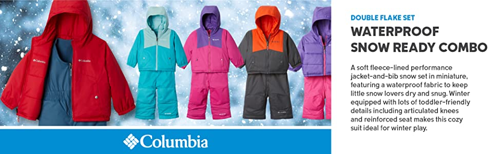 Columbia Baby Boys Double Flake Set