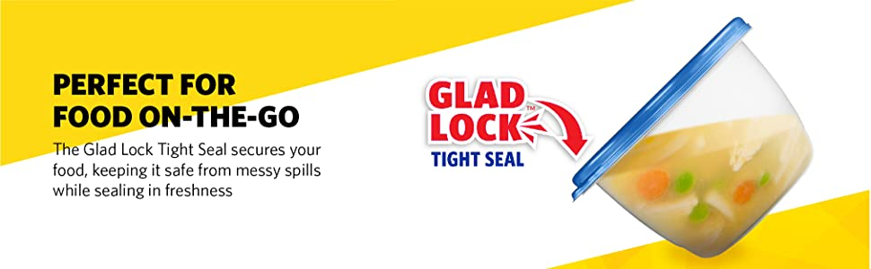 Glad, Gladware, Containers, Food Storage, Airtight, Seal, BPA Free, Lunch, Dishwasher safe