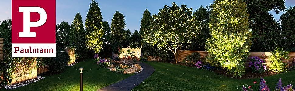 Paulmann 93923 Foco exterior Plug & Shine Cone IP67 3000 K 6,8 W 24 V ángulo de irradiación 20° 93923 Iluminación exterior LED, estaca, iluminación para el jardín: Amazon.es: Iluminación