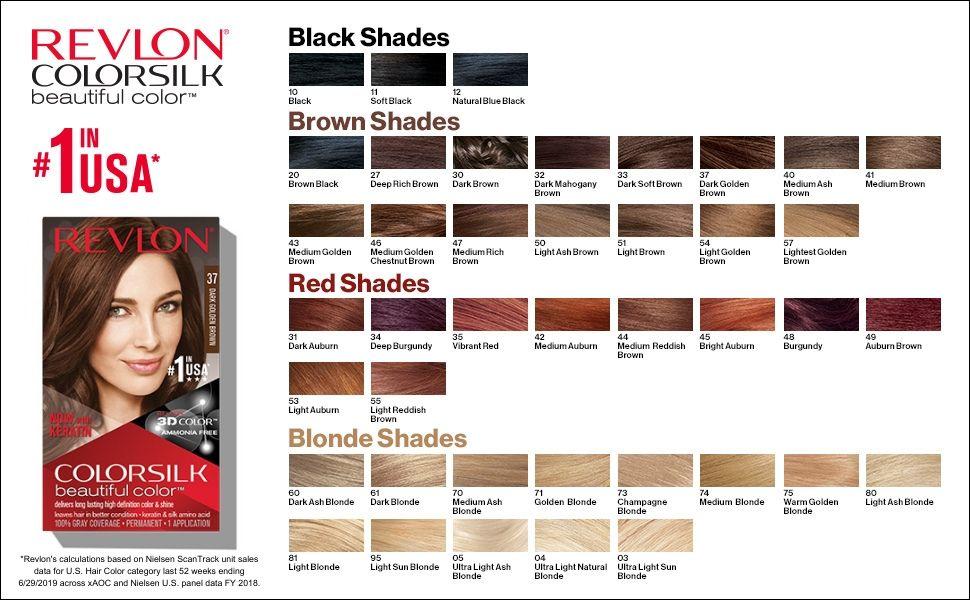 Revlon Hair Dye Hair Color Permanent Radiant Beautiful Color