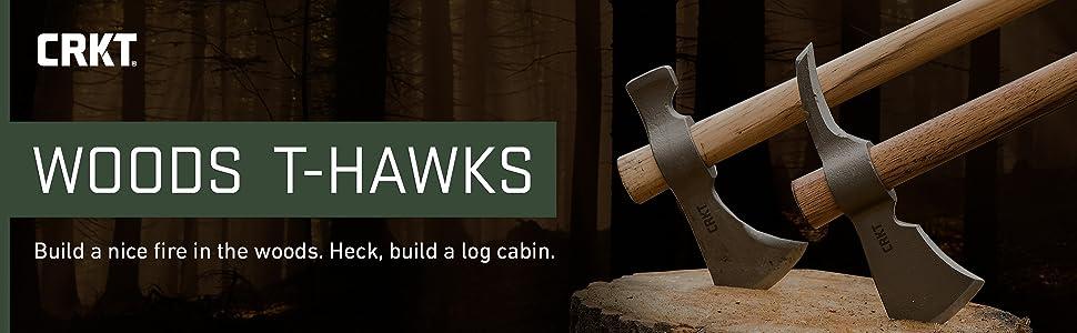 CRKT woods tomahawk, t-hawk, thawk, axe, chogan, kangee