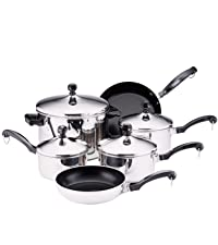 cookware, pots and pans, stainless steel cookware, pot, pan, stainless steel skillet