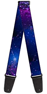 Galaxy Purple Blue Stars Constellation Orion Dipper Milky Way Guitar Strap Acoustic Space