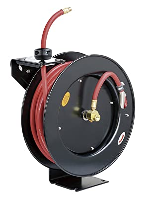 "goodyear reelworks hose reel air water compressor 1/4"" 3/8"" 50' 100' tool home hand crank automotive"
