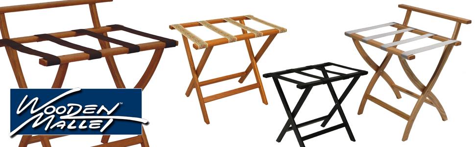 Wooden Mallet Luggage Racks