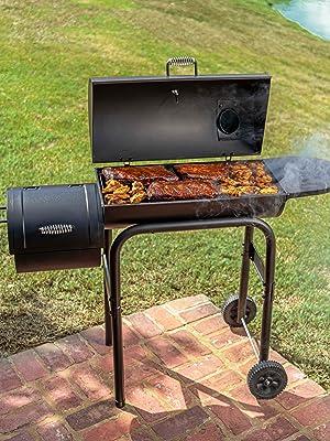 char;broil;offset;smoker;grill;bbq;firebox;charcoal;grilling;gas;smoking;smoke;lump;briquette;cowboy