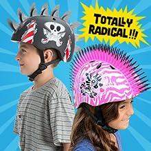 mohawk helmet, 3d helmet, kid, boy, girl, child
