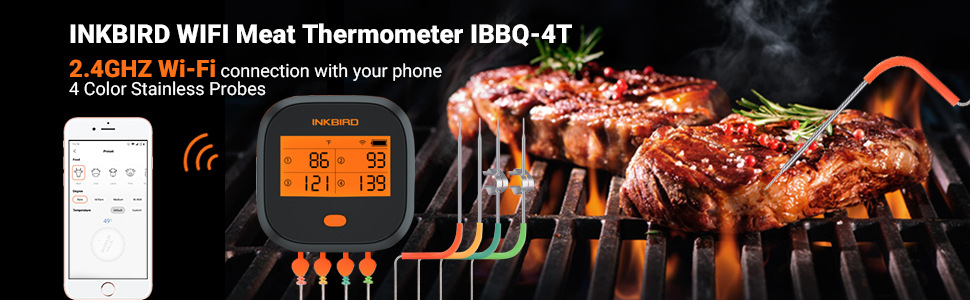 Wifi meat thermometer