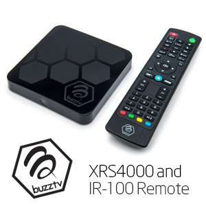 XRS 4000 Buzz-tv android tv box steaming media player IPTV remote control android 9.0 OS 4gb 32gb