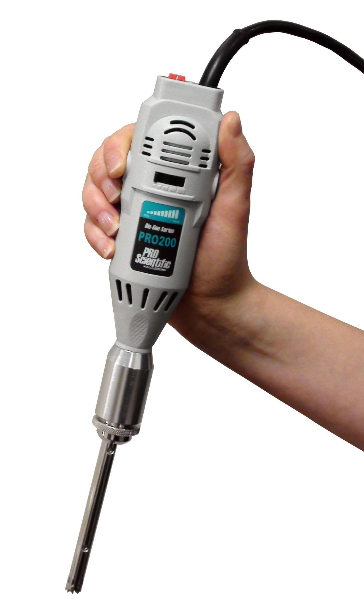 1//5 hp PRO Scientific Bio-Gen PRO200 Handheld Homogenizer 220V 5,000-33,000 rpm