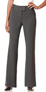 Rafaella Women's Plus Size Curvy Fit Gabardine Bootcut Trouser, Black, 16W