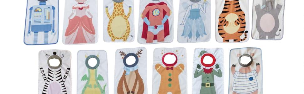 Montessori Impermeable 55cm Babero delantal para fomentar la autonom/ía 100/% Algod/ón delante y dorso plastificado XXL