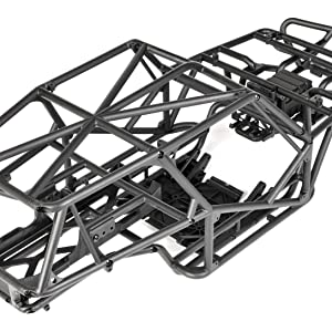 DEtail view of Wraith's tube frame chassis