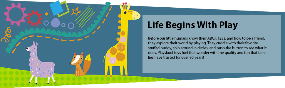 playschool; toys for babies 0-6 months; busy baby mat; stuffed animal; infant toys 3-6 months