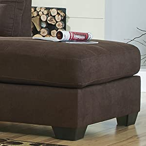 Wondrous Flash Furniture Benchcraft Maier Sectional With Right Side Facing Chaise In Walnut Microfiber Ibusinesslaw Wood Chair Design Ideas Ibusinesslaworg