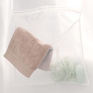 Mesh Pockets Vinyl Shower Curtain/Liner