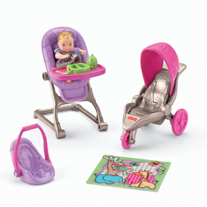 New FISHER PRICE Loving Family Dollhouse BABY BOUNCY SEAT for 2 Inch BABY DOLL