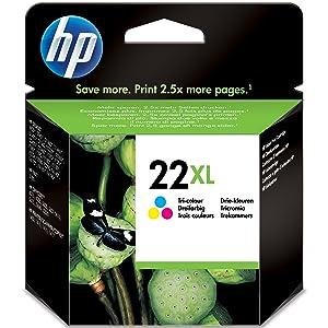 HP ,22XL ,High ,Yield ,Tri-color ,Original ,Ink ,Cartridge, C9352CE