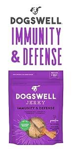 immunity defense jerky flaxseed oil vitamin e a turmeric grain free protein meat chicken breast dog