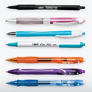 assorted bic pens