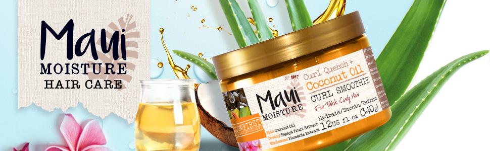 Maui Moisture Coconut Oil hair mask for frizzy hair