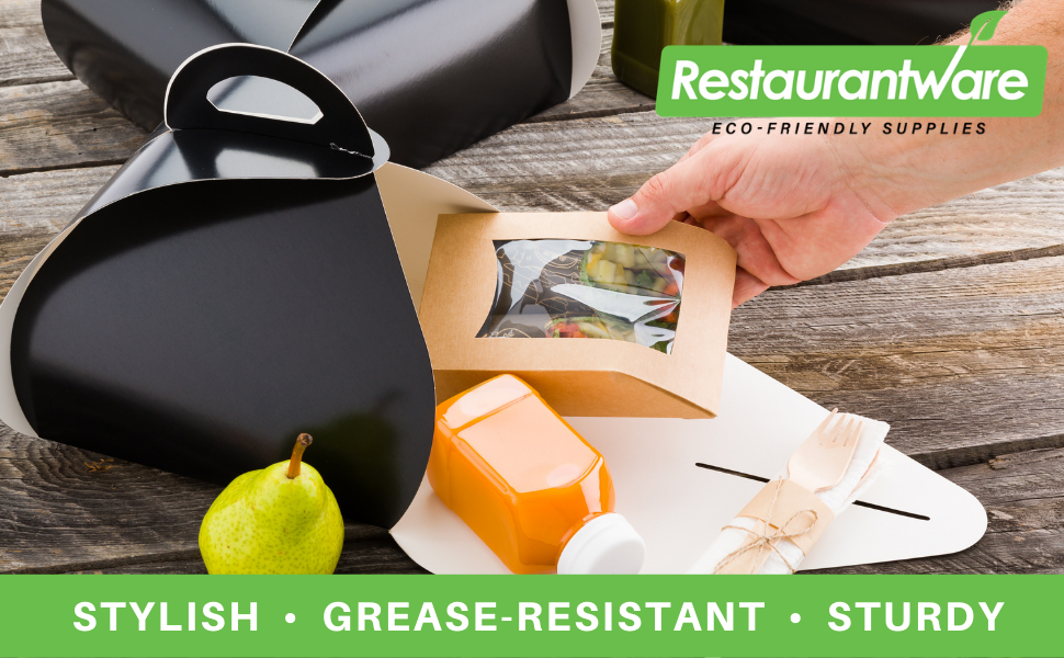 """""""These to go lunch boxes are grease-resistant to prevent oils from soaking through.  """""""