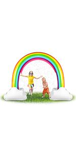 inflatable rainbow sprinkler