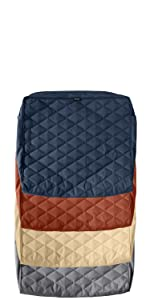 Montlake FadeSafe Quilted Chair Back Cushion Cover