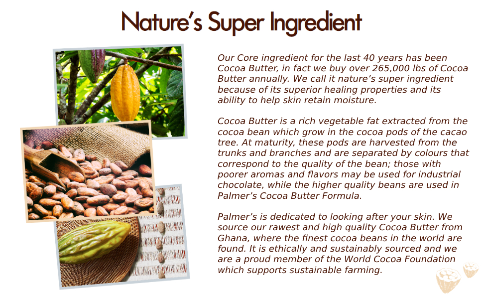 Cocoa Butter is Nature's Super Ingredient from Palmer's