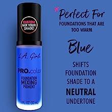 pro foundation mixer blue shade matte pro matte new shifts foundation pigment