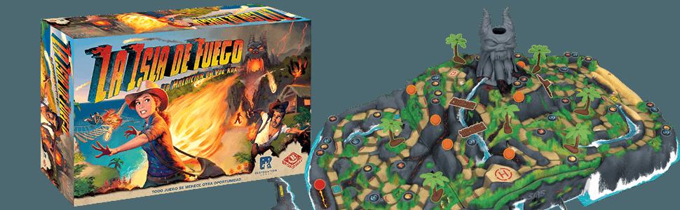 Asmodée-La Isla de Fuego: La Maldición de Vul-Kar, Color (LGSFI01ES): Amazon.es: Juguetes y juegos
