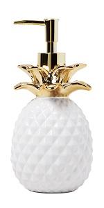 SKL Home Gilded Pineapple Bathroom Gold Shower Curtain