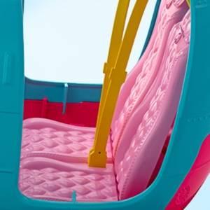 L'Elicottero di Barbie, rosa e azzurro con elica che gira, per bambine da 3 a 7 anni