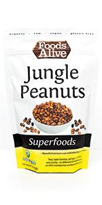 Wild Jungle Peanuts - Organic, Plant-Based, Aflotoxin-Free, Non-GMO, Vegan, Gluten Free, Kosher