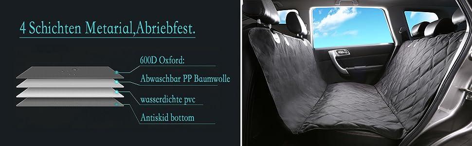 Alfheim Sitzbezug Des Autos Für Haustier Verschleißfester Bezug Des Hintersitzes Für Haustier Ausgerüstet Mit Anker Und Rutschfestem Gummibodenbezug Auto Lkw Suv Haustier