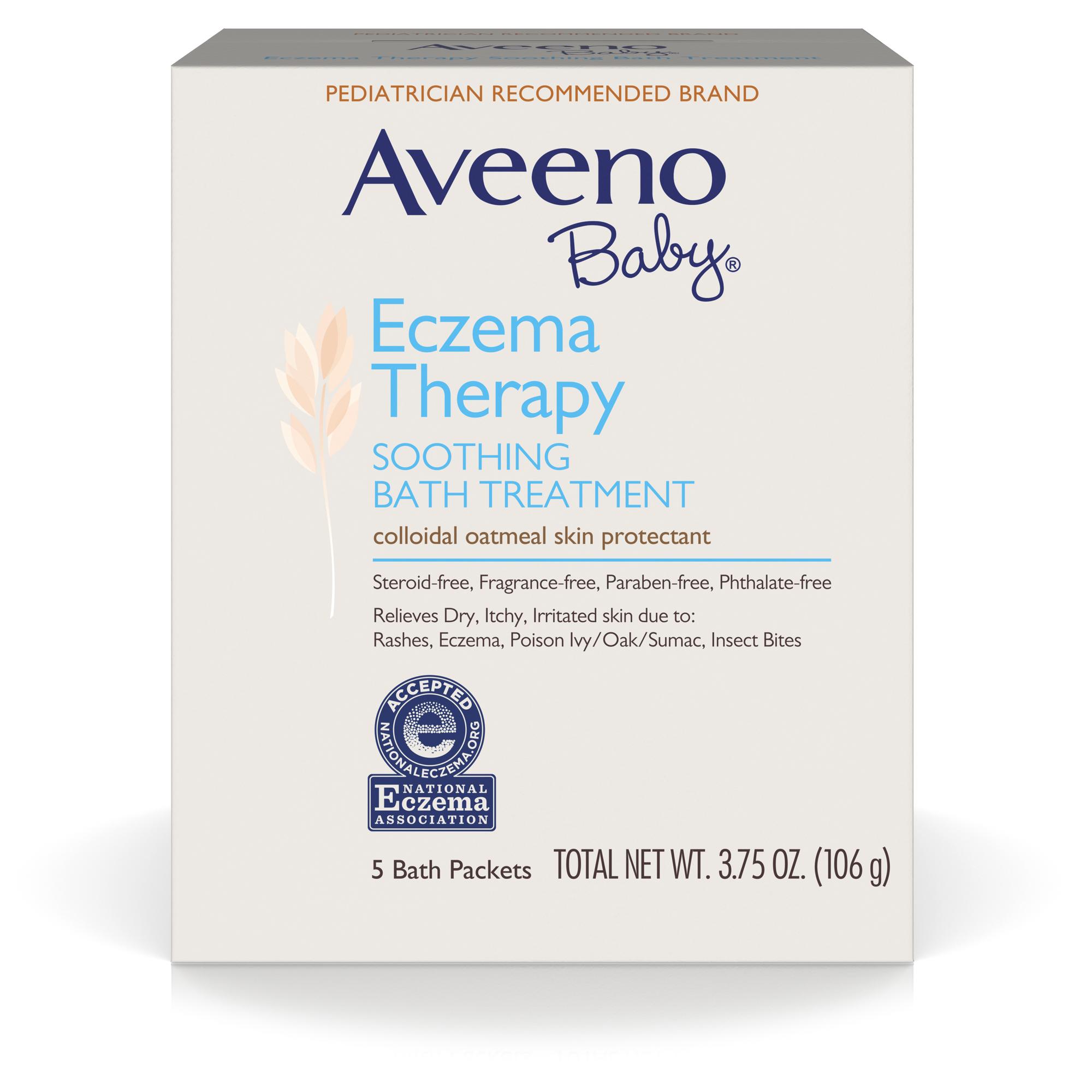 Amazon Com Aveeno Baby Eczema Therapy Soothing Bath