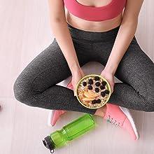 Primavita - Gachas de avena con frutos rojos y pipas de girasol con alto contenido en proteínas, 525 g (7 sobres de ración)