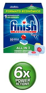 Finish Quantum Ultimate Detergente para Lavavajillas - 84 ...