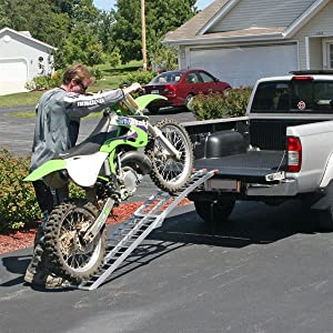 Dirt Bike Ramp >> Amazon Com Black Widow Afl 9012 Single Runner Motorcycleramp Finger