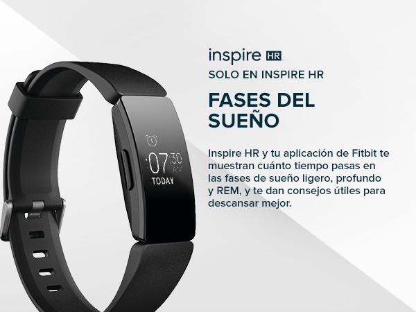 1edaa7d7fc72 Fitbit Inspire HR, Pulsera de salud y actividad física con ritmo cardiaco,  Lila