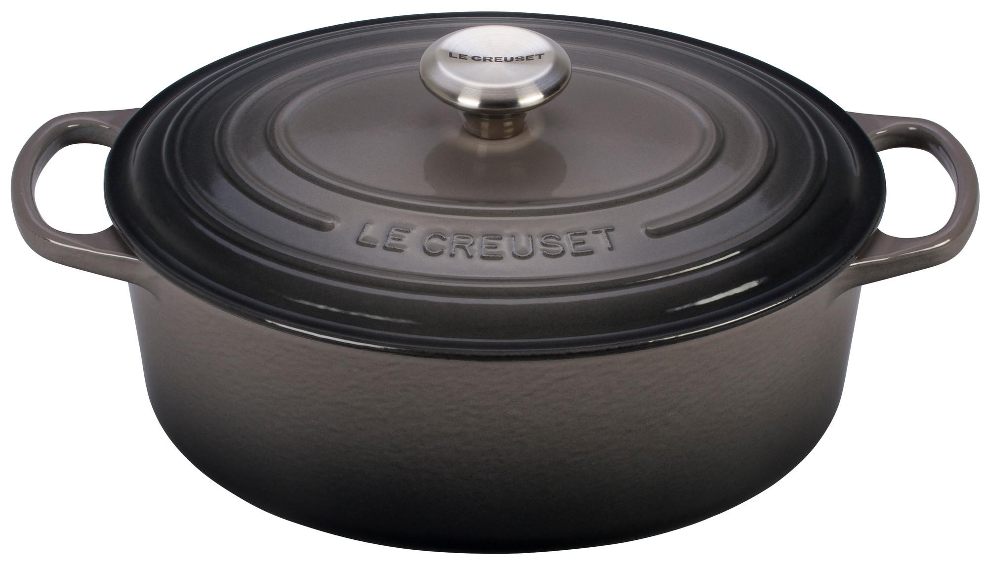 le creuset signature enameled cast iron 1 quart oval dutch french oven cerise. Black Bedroom Furniture Sets. Home Design Ideas