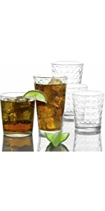 Tumblers and whiskey glasses