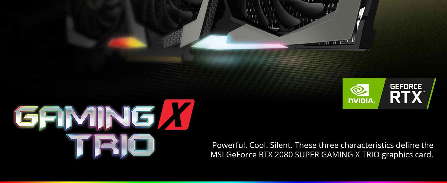 msi gaming, nvidia, geforce rtx, ray tracing, 2080 super